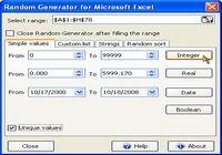 Random Generator for Microsoft Excel pour mac