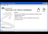 Recovery for Works Database pour mac