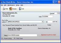 Star Check Writer pour mac