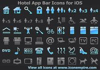 Hotel App Tab Bar Icons for iOS
