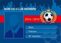 Carte de membre de club de Football pour mac