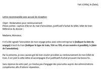 Lettre de réclamation SNCF (remboursement) pour mac