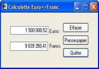 CalculEuro-Franc Belge & Luxembourgeois pour mac