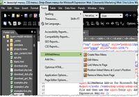 AllWebMenus Expression Web Menu Addin pour mac