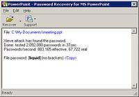 Powerpoint Password Recovery Key pour mac