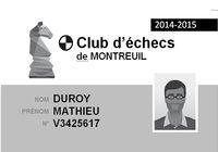 Carte de membre de Club d'échecs pour mac