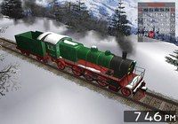 Winter Train 3D Screensaver for Mac