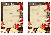 Modèle de menu de Noël Word pour mac