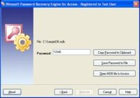 Password Recovery Engine for Access pour mac