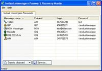 Instant Messengers Password Recovery Master pour mac