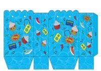 Pochette pour carte cadeau bleue à imprimer pour mac