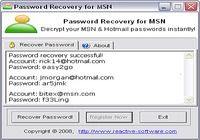 Password Recovery for MSN pour mac