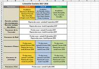 Calendrier Vacances Scolaires 2017-2018 pour mac
