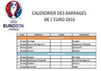 Calendrier des barrages de l'Euro 2016 pour mac