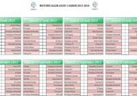Calendrier ligue 1 2013-2014 pour mac
