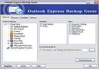 Outlook Express Backup Genie pour mac