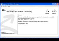 Recovery for ActiveDirectory