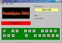 PenduQuizz 2003 pour mac