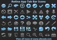 Retina App Tab Bar Icons