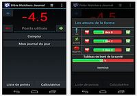 Journal Diète Watchers iOS pour mac