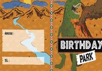 Carte d'invitation anniversaire Les Dinosaures pour mac