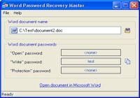 Word Password Recovery Master pour mac