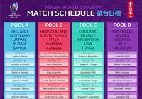 Calendrier Coupe du Monde de Rugby 2019 PDF