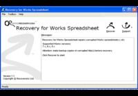 Recovery for Works Spreadsheet pour mac