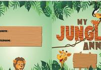 Carte d'invitation Anniversaire Jungle pour mac