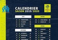 Calendrier de l'OM - Ligue 1 - 2019-2020 pour mac