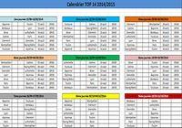 Calendrier Top 14 2014/2015 pour mac