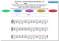 Lecture Musicale PDF Clé de Sol pour mac